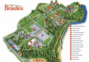 Map of Beaulieu Motor Museum